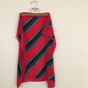 1950s Baar & Beards Vintage Silk Striped Scarf